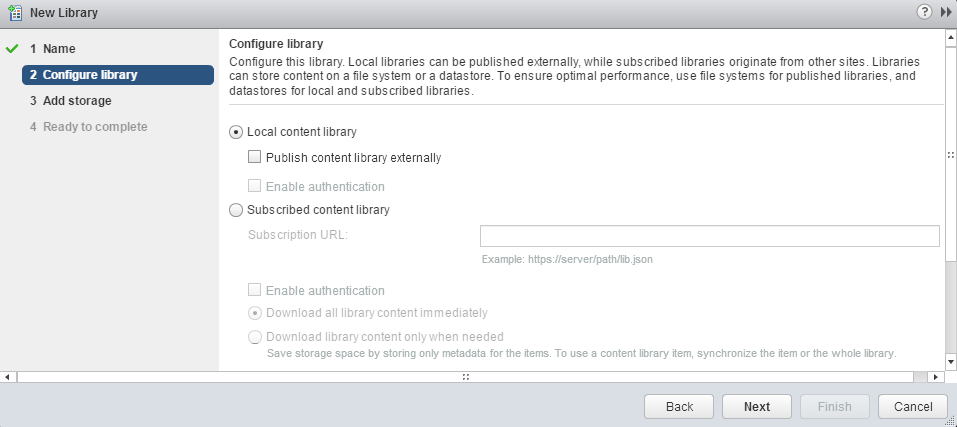 Configure Content Library
