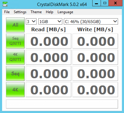 Crystal DiskMark Settings