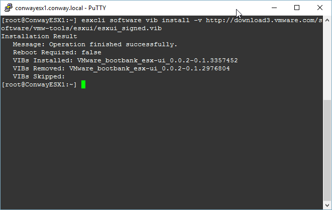 Installing ESXI Embedded Host Client