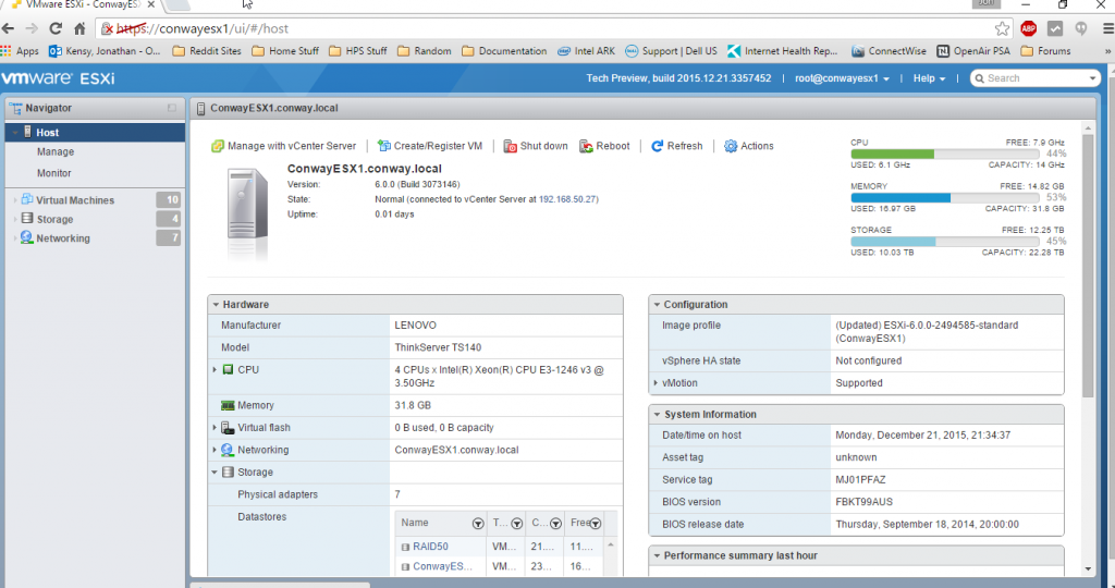 ESXi Embedded Host Client Updated