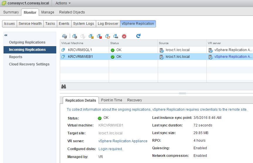 Testing vSphere Replication 6 Recovery (and not having to re