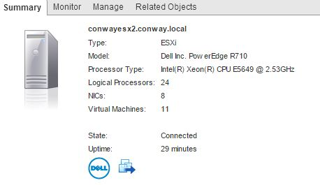 24 Logical CPUs in ESXi