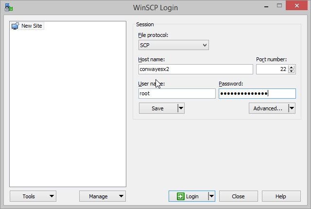 WinSCP Connect