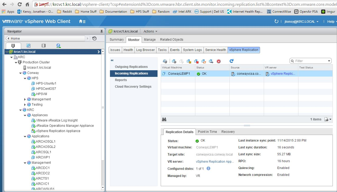 Using Replication in vSphere 6 | JonKensy com